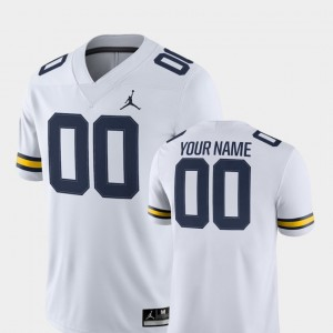 White College Football Men 2018 Game #00 Michigan Customized Jersey 631916-760