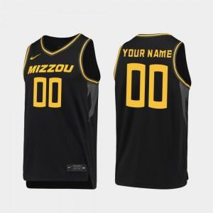 #00 Missouri Custom Jersey 2019-20 College Basketball Black Men's Replica 232312-172