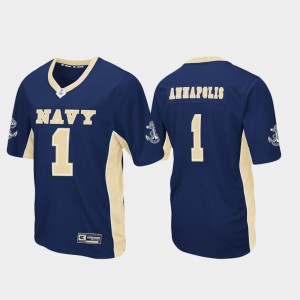 Men Max Power Football Navy Jersey #1 Navy 431697-329