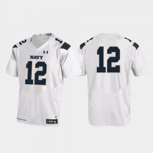 Replica Mens College Football Navy Jersey #12 White 883737-693