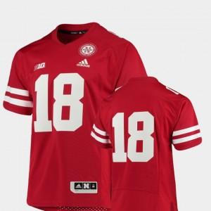 #18 Nebraska Jersey College Football Scarlet Mens Premier 969953-608