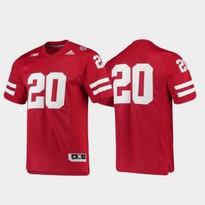 Scarlet Football #20 Premier Nebraska Jersey Men's 217786-830