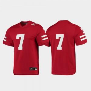 #7 Mens Replica Scarlet Nebraska Jersey College Football 615918-739