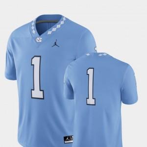 #1 College Football UNC Jersey Men's 2018 Game Carolina Blue 569271-473