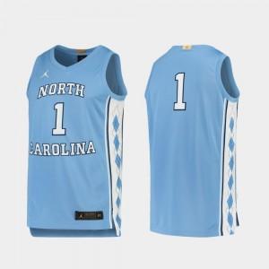 UNC Jersey Men College Basketball Limited Carolina Blue #1 478615-960