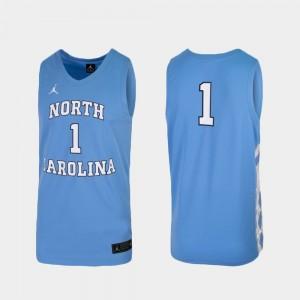 Replica Men's UNC Jersey College Basketball Carolina Blue #1 835686-367