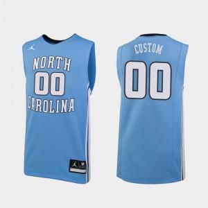 Replica #00 Men College Basketball Carolina Blue UNC Custom Jersey 522981-192