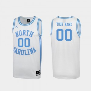 Mens Special College Basketball March Madness White UNC Custom Jersey #00 687919-578