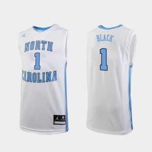 Replica College Basketball Leaky Black UNC Jersey White #1 Men 998345-313