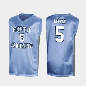Nassir Little UNC Jersey Special College Basketball Royal Men's #5 March Madness 745702-622