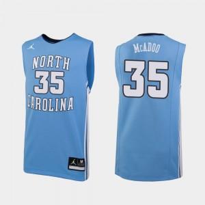 Ryan McAdoo UNC Jersey Replica Carolina Blue For Men's College Basketball #35 138306-649