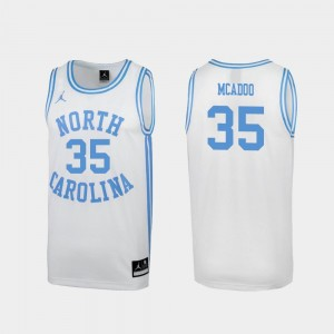 Ryan McAdoo UNC Jersey #35 March Madness White Special College Basketball For Men's 932760-367