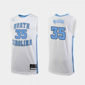White Ryan McAdoo UNC Jersey #35 Replica Men's College Basketball 937094-338