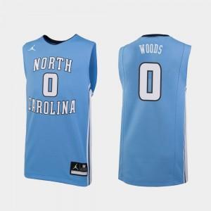 Seventh Woods UNC Jersey Mens Carolina Blue Replica #0 College Basketball 925072-507