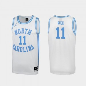 White #11 Shea Rush UNC Jersey March Madness For Men Special College Basketball 169256-546