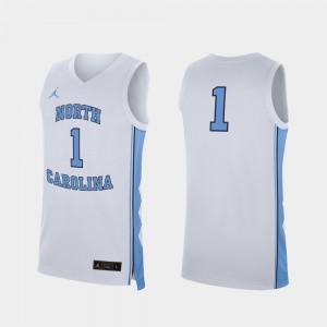 White #1 Men's College Basketball UNC Jersey Replica 918125-504