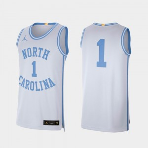 College Basketball Retro Limited White #1 Men UNC Jersey 368946-837