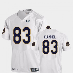 For Men's College Football White Replica #83 Chase Claypool Notre Dame Jersey 727021-683