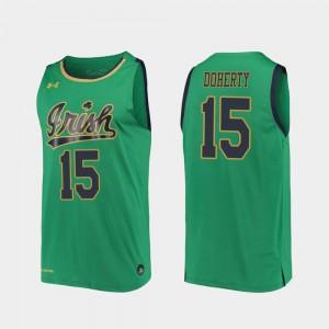 Men's #15 Kelly Green 2019-20 College Basketball Replica Chris Doherty Notre Dame Jersey 907102-969