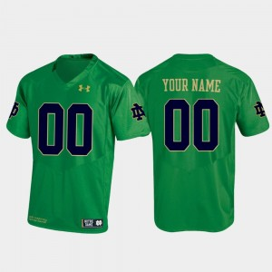 Notre Dame Custom Jerseys Men Replica Kelly Green #00 Football 925650-482