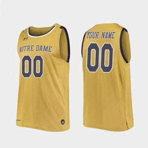 College Basketball Men Notre Dame Custom Jersey Gold #00 Replica 495277-162