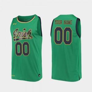 Replica Kelly Green Mens 2019-20 College Basketball Notre Dame Custom Jersey #00 196412-126