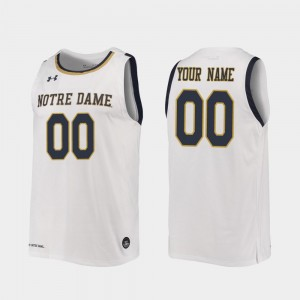 2019-20 College Basketball White #00 Notre Dame Customized Jersey Replica For Men's 583075-451