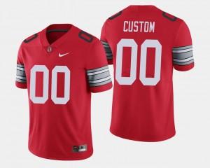 2018 Spring Game Limited Scarlet #00 Mens OSU Custom Jerseys 782521-305