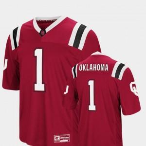 Crimson Men Foos-Ball Football OU Jersey Colosseum #1 823473-897