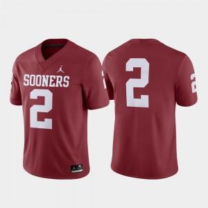 For Men #2 College Football OU Jersey Crimson Game 366952-298
