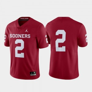 Crimson Limited #2 College Football OU Jersey For Men 582865-781