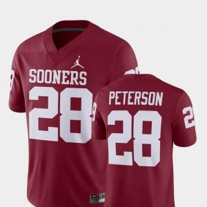 Adrian Peterson OU Jersey #28 For Men's Crimson Alumni Football Game Player 882946-818