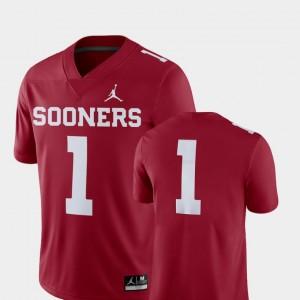 #1 College Football 2018 Game OU Jersey Mens Crimson 445097-758