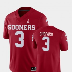 Sterling Shepard OU Jersey #3 College Football Game For Men Crimson 862029-269