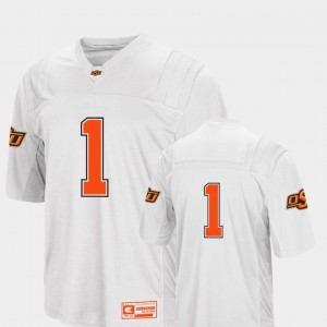 Colosseum 2018 #1 College Football Oklahoma State Jersey White Men 944225-833