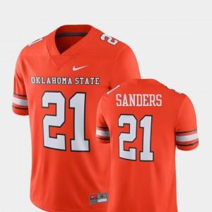 #21 Barry Sanders Oklahoma State Jersey Player Men's Alumni Football Game Orange 848471-203