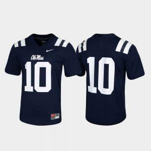 For Men #10 Ole Miss Jersey Navy Game Untouchable 836852-797