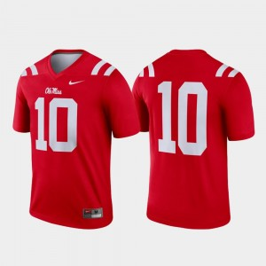 Legend Red Men's Ole Miss Jersey College Football #10 943378-709