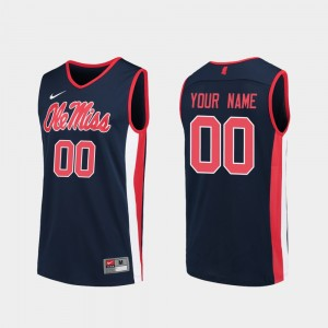 #00 Replica Navy For Men's College Basketball Ole Miss Customized Jersey 224746-721