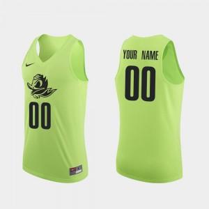 Oregon Custom Jerseys Apple Green Authentic #00 Men College Basketball 756369-401