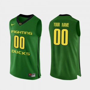 #00 Oregon Custom Jerseys Authentic Apple Green Men College Basketball 558379-395