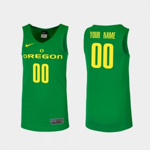 Oregon Custom Jersey #00 Green College Basketball Men's Replica 720749-734