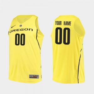 Oregon Custom Jersey Authentic Yellow College Basketball Mens #00 697666-551