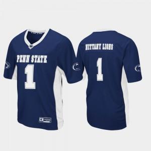 Men Navy Football #1 Max Power Penn State Jersey 141200-187