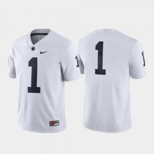 White #1 Penn State Jersey Men's Game 466512-535