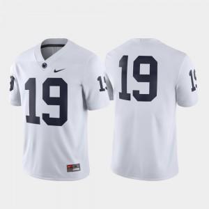 White For Men's #19 Football Game Penn State Jersey 431813-205
