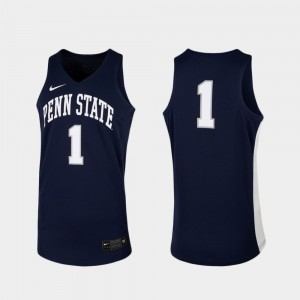 Navy Replica For Men College Basketball #1 Penn State Jersey 223120-491