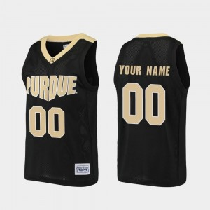 Basketball #00 Black Purdue Customized Jersey For Men Alumni 438098-146