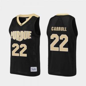 Alumni Joe Barry Carroll Purdue Jersey Black Mens #22 Basketball 514745-183