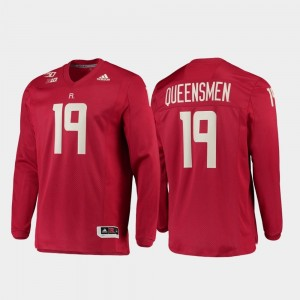 150th Anniversary Scarlet Strategy Long Sleeve College Football Men Rutgers Jersey #19 585731-642